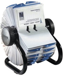 Visitekaartenmolen Rolodex RL67236 67x102mm zwart 200 visitekaarten.