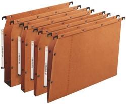 Hangmap Elba Oblique AZV lateraal A4 u-bodem 50mm oranje. Afname per 25 stuks.