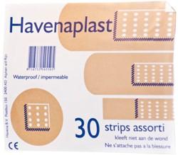 Pleister Pharmaplast strips assorti kleuren 30 stuks.