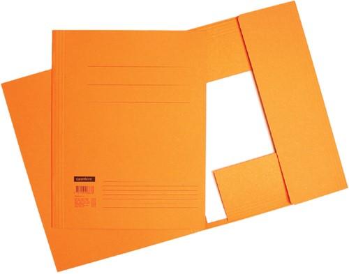 Dossiermap 3-kleps Quantore A4 320 grams karton oranje. Afname per 10 stuks.
