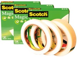 Onzichtbaar plakband Scotch Magic 810 12x66meter 2 rollen.