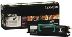 Toner Lexmark 34016HE zwart.