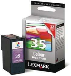 Inktcartridge Lexmark 18C0035E 35 kleur HC.