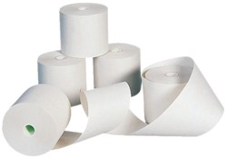 Pinrol 57mm x 30mm x 8mm (11 meter) thermisch papier. Afname per 5 stuks.