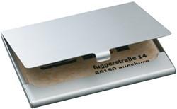 Visitekaartenhouder Sigel VZ136 duo mat zilver 58x90mm maximaal 15 visitekaarten (541481).
