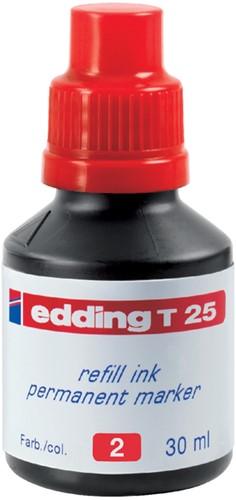 Navulinkt voor marker Edding T25 rood.