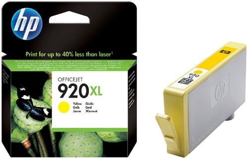 Inktcartridge HP CD974AE 920XL geel HC.