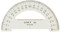 Gradenboog Linex 910 diameter 100 mm 180 graden transparant.