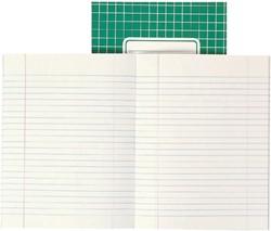 Schrift Office A5 soepele kartonnen kaft in assorti kleuren - 40 vel 5mm geruit papier. Afname per 5 stuks.