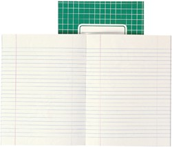 Schrift Office A5 soepele kartonnen kaft in assorti kleuren - 40 vel gelijnd papier. Afname per 5 stuks.