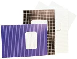 Schrift Office A4 soepele kartonnen kaft in assorti kleuren - 40 vel 10mm geruit papier.