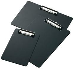 Klembord A4 staand met klem zwart.
