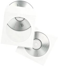 Cd/dvd hoes Quantore met venster wit 100 stuks.