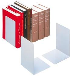 Boekensteun Durable 3244-23 gesloten zwaar 220x160x160mm zilvergrijs 2 stuks.