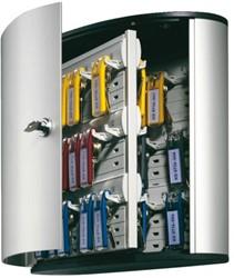 Sleutelkast Durable 1954 aluminium 48 haken 302x400x118mm.