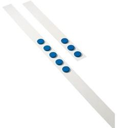 Wandlijst Desq 100cm met 5 blauwe magneten 32mm.