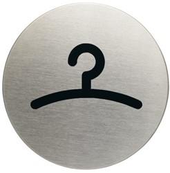 Infobord pictogram Durable 4914 garderobe rond 83mm.