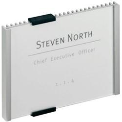 Deurbordje Durable Info Sign 149x105,5mm kleur metaal-zilver.