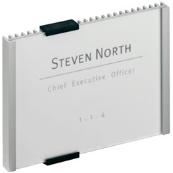 Deurbordje Durable Info Sign 149x105mm kleur metaal aluminium.