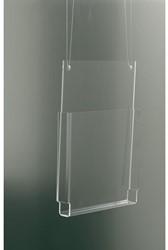 Folderhouder OPUS 2 A4 staand hangmodel glashelder.