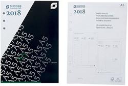 Agenda calendarium 2019 Succes A5/Executive 14,8x21cm 7 dagen per 2 pagina's 4-talig wit in cellofaan XEQ7-19.