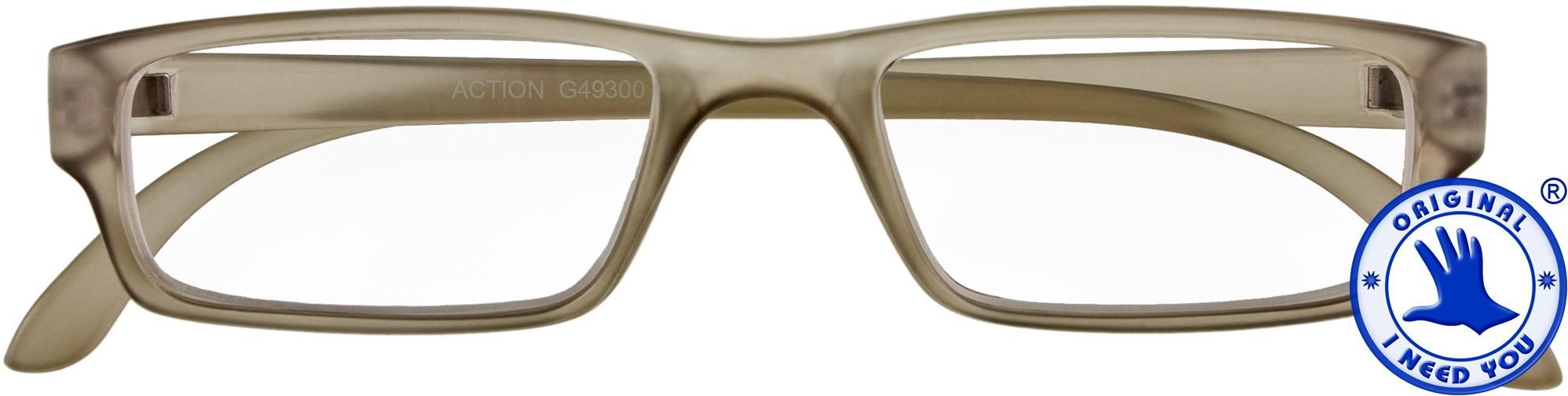 d5a9b71657269b Leesbril I Need You model Action kleur mat grijs sterkte +2.00dpt ...
