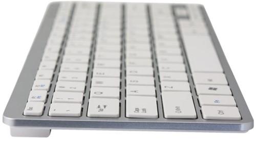 Toetsenbord Ergo Compact Qwerty zilverwit.