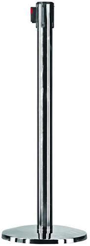 Afzetpaal OPUS 2 940mm chrome met rolband 250cm zwart.