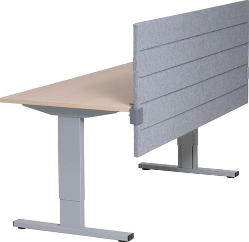 Akoestisch paneel tbv montage aan tafelblad 160b x 80h cm x 32mm dikte stofgroep A.