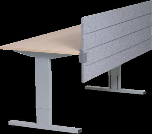 Akoestisch paneel tbv montage aan tafelblad 160b x 60h cm x 32 mm dikte stofgroep A.