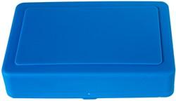 Opbergbox blauw tbv schoolbenodigdheden kunststof.