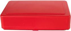 Opbergbox rood tbv schoolbenodigdheden kunststof.