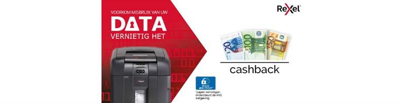 Cashback actie Rexel papiervernietigers tot €65,- retour!