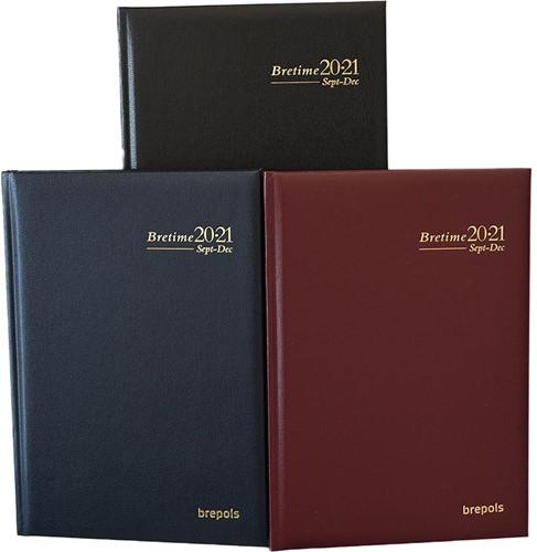 Agenda 2020/2021 Brepols Bretime 7 dagen per 2 pagina's 14,8x21cm 16 maanden vanaf augustus 2020 omslag: assorti kleuren creme papier.