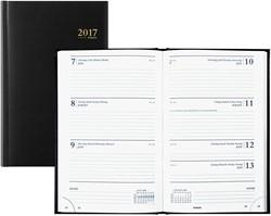 Agenda 2018 Brepols Saturnus kort 7 dagen per 2 pagina's 13,3x20,8cm omslag zwart wit papier (0.231.1255.01.6.0).