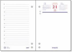 Dagomlegblok 2018 Brepols 8,4x12cm 1 dag per 2 pagina's.