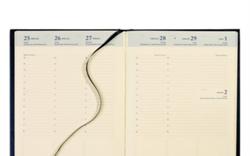 Agenda 2017/2018 Brepols Bretime 7 dagen per 2 pagina's 14,8x21cm 16 maanden vanaf augustus 2017 omslag: assorti kleuren papier: creme (900033).