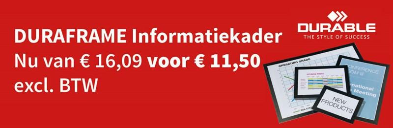 Durable Duraframe van € 16,09 voor maar € 11,50 ex BTW per set
