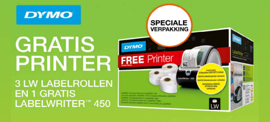 Gratis printer bij drie rollen
