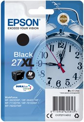 Inktcartridge Epson 27XL T27114010 zwart.