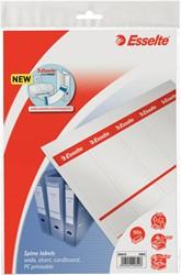 Rugetiket beprintbaar Esselte breed karton wit 50 stuks.