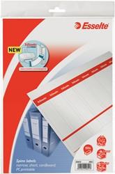 Rugetiket beprintbaar Esselte smal karton wit 80 stuks.
