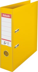 Ordner Esselte A4 brede rug 75mm geel.
