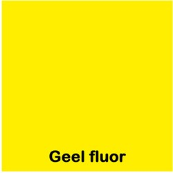 Etalagekarton fluor geel A4 380 grams pak van 50 vel.