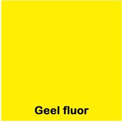 Etalagekarton fluor geel A5 380 grams pak van 50 vel.