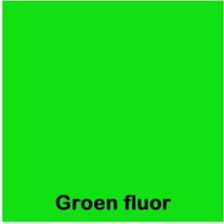 Etalagekarton fluor groen 8x12cm 380 grams pak van 50 vel.