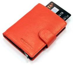 Pasjeshouder Figuretta de luxe etui - lederen omslag in de kleur rood cap. 6 kaarten.