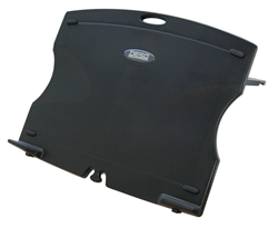 Laptop / Tablet standaard Desq opvouwbaar kunststof zwart.