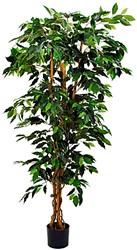 Kunststof plant in pot 140cm Ficus benjamini.