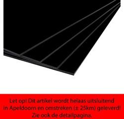 Foamboard Moorman 70x100cm dikte 5mm enkelzijdig zwart CFK vrij.
